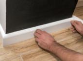 Sanding skirting boards